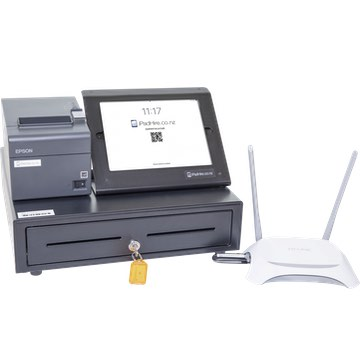 **POS Kit** - includes iPad, cash drawer, receipt printer, and data connection (Vend/posBoss compatible) for hire